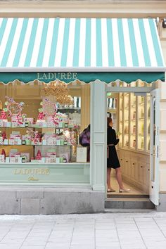 just an image found on Tumblr of a pretty store window - Laduree Paris