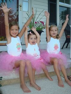 Custom Tutu Kids Set Personalized for Birthdays by uniquefavors, $79.99