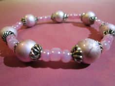 Tween Pink Glass Bead Bracelet with by BeadazzlingButterfly, $8.00