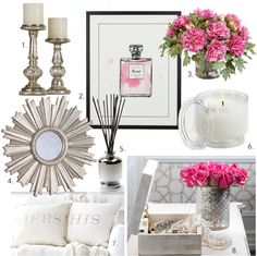 Love is in the air! Pops of pink mixed in with winter white. A great way to transition from winter to spring!