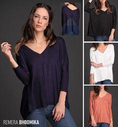 La Remera Bhoomika tiene un detalle ultra femenino: Su espalda de gasa al tono convierte esta prenda básica en un ítem trendy y elegante. Ideal para todas las siluetas. Encontrala en amplia variedad de talles y colores.