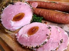 Gotowanie jest łatwe: Schab z morelą w ziołach z szynkowaru Cold Cuts, Smoking Meat, Tuna, Camembert Cheese, Great Recipes, Ale, Sausage, Pork, Food And Drink