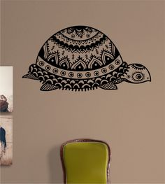 Turtle Tribal Version 2 Vinyl Wall Decal Sticker Art Decor Bedroom Design Mural  hawaii by StateOfTheWall on Etsy https://www.etsy.com/listing/220207787/turtle-tribal-version-2-vinyl-wall-decal