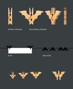 Batman Clothespins