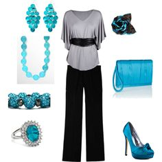 Business Casual - Teal, created by menia1204 on Polyvore
