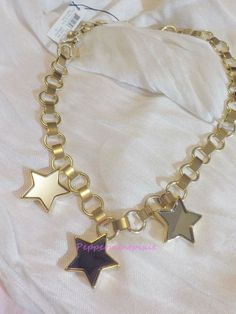 MARC BY MARC JACOBS  All Stars Frontal Starry Necklace Mirror Stars New Tag Bag #MARCBYMARCJACOBS #PendantLinkNecklace