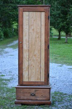 Old Gun Cabinet Makeover
