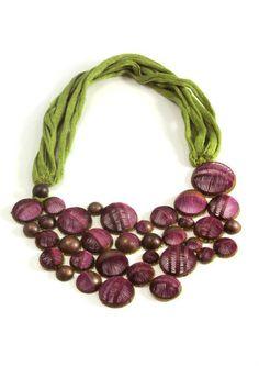 Necklace. 2011. Copper, silk, cotton