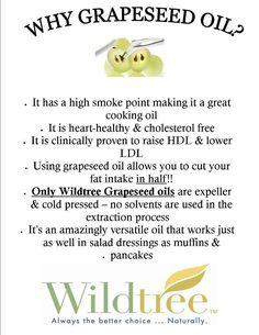 Wildtree Grapeseed Oil #wildtree #grapeseedoil  www.mywildtree.com/hhblondin