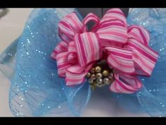 How To Make Stacked Bows Using Two Different Types Of Ribbons - DIY Video Tutorial