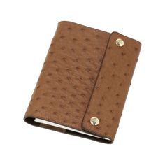 Notebook Cover in Oak Ostrich by Mulberry