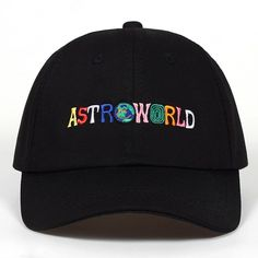 ASTROWORLD Baseball Caps Travis Scott Cotton Unisex Astroworld Dad Hat Cap  2018  fashion  clothing d4967225c791