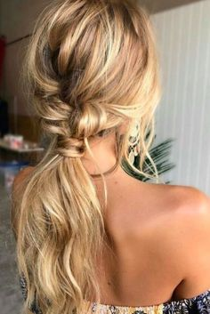 Hair hair styles hair color hair cuts hair color ideas for brunettes hair color ideas Wedding Hairstyles For Long Hair, Pretty Hairstyles, Braided Hairstyles, Bohemian Hairstyles, Hairstyle Ideas, Latest Hairstyles, Blonde Hairstyles, Low Pony Hairstyles, Loose Wave Hairstyles