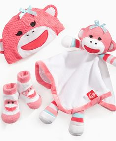 Baby Starters Baby Toy, Baby Girls Sock Monkey Snuggle Buddy - Kids