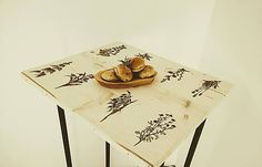 DIY handmade ChopperArt natural table / Stolík Herbár