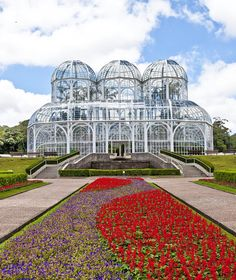 The French Art Nouveau-style greenhouse at Curitiba Botanical Gardens in Brazil. Photo courtesy of the Brazilian Federal Government.