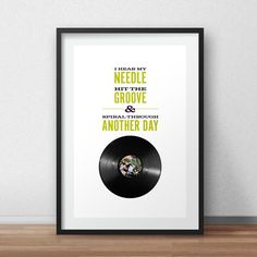 """The Stone Roses """"She Bangs The Drums"""" Vinyl Lover Art Poster Print"""