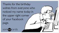 Facebook Birthday- ha-ha!