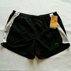 NWT Champion running shorts Black Champion running shorts with Duo Dry liner and inside pocket for key. Medium Champion Shorts