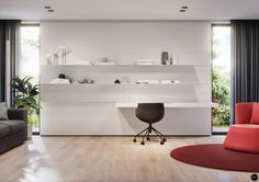 House in Olsztyn, Poland. Project is made by Tamizo Architects (Lodz, Poland)Visualization by Terodesign ( Krakow, Poland ) Interior Rendering, Home Interior Design, Tamizo Architects, Shelving, Architecture Design, Kids Room, Living Room, Home Decor, Krakow Poland