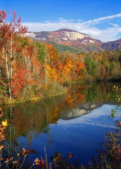 Table Rock, SC in the fall! Can't wait to go back camping/hiking here next month!  Ahhh <3