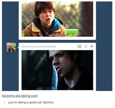 I want to be normal. You're doing a good job, Sammy. Supernatural. Sam Winchester. Jared Padalecki.