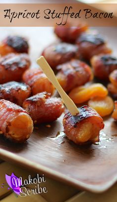 Apricot wrapped bacon recipe is perfect for bacon lovers everywhere!