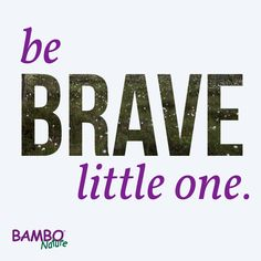Be Brave Little One.  Love,  Bambo Nature