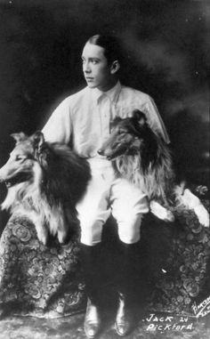 Jack Pickford and rough collies