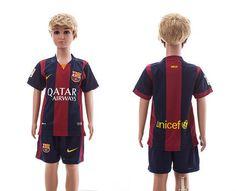 Barcelona Home Kids Soccer Jersey 14-15 Season
