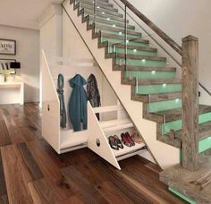 Glass Staircase With Raw Wood Newel Posts And Under Stairs Drawers Under Deck Stairs Storage Plans Build Your Own Under Stair Storage Under Stairs Diy Storage Solutions Under Stairs Drawers, Stair Drawers, Space Under Stairs, Storage Drawers, Diy Storage, Under Staircase Ideas, Diy Drawers, Clothes Storage, Hidden Storage