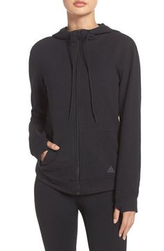 Free shipping and returns on adidas 24/7/365 Zip Hoodie at Nordstrom.com. Ultrasoft French terry means effortless, all-day everyday comfort in a full-zip sweatshirt featuring an adjustable scuba hood and thumbhole cuffs. A logo graphic amplifies adidas's signature style.