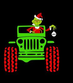 Jeep Stickers, Jeep Decals, Funny Stickers, Cute Christmas Ideas, Christmas Svg, Xmas, Jeep Rubicon Unlimited, Eugene The Jeep, Jeep Gear