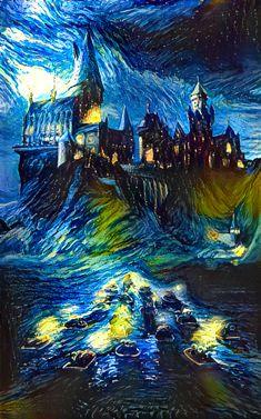 Reddit - harrypotter - Starry Hogwarts Night