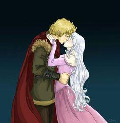 Prince Lir and Lady Amalthea kissing!