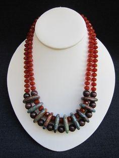 tara lyn evans, statement piece, jasper, crystal, amber, jade,  $248