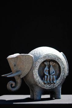 Elefante. Work of Dominique Pouchain