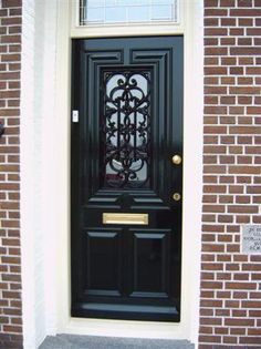 Trendy Old Door With Windows Hallways Entry Way Design, Entrance Design, Front Door Design, Front Door Decor, Old Doors, Entry Doors, Front Doors, Black French Doors, Closet Door Makeover