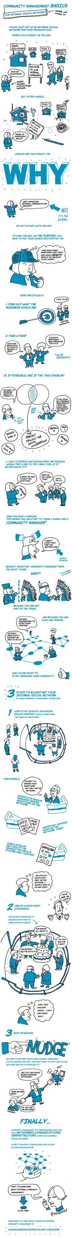 Community Management Basics for Internal Social Networks #infographic #Community #Management