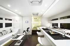 Interior to a RV that's big enough to store a smart car