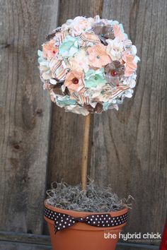 ...or use this idea to trim out a lamp shade.