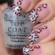 leopard nails by vintagemaddness nail-art-leopard-animal Leopard Nail Art, Cheetah Nails, Pink Nails, Leopard Prints, Pink Cheetah, Leopard Animal, Snow Leopard, Animal Prints, Cheetah Print