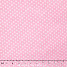 Happy Dots - Kiss Dot Pink Yardage - Michael Miller Fabrics - Michael Miller