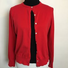 Lands' End Cardigan Sweater Button Front classic sweater. Pre loved in good condition. Lands' End Sweaters Cardigans