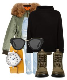 """""""Untitled #1043"""" by ellamidge ❤ liked on Polyvore featuring Mr & Mrs Italy, Topshop, Jaeger, Dr. Martens and Prada"""