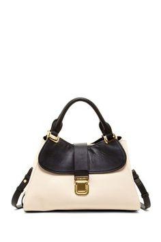 Becky Pebbled Trim Satchel Bag