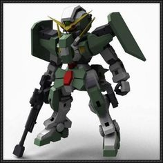 SD GN-002 Dynames Gundam Paper Model Free Download