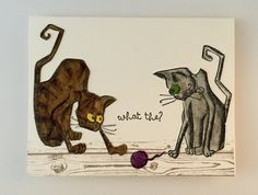 https://flic.kr/p/Gy1Qhu | Crazy Cat what the? | I used Tim Holtz Crazy Cats, Crazy Things and Distressed markers. The wood floor is Stampin up background stamp.