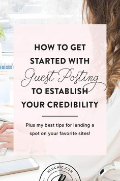 How you can get started with guest posting and the best tips for landing a spot on your favorite sites! A guest post from PR expert Brittney Lynn! E-mail Marketing, Marketing Digital, Content Marketing, Business Marketing, Blog Writing, Writing Tips, Public Relations, Blog Tips, Software