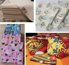 {Eco Tutorials} Cloth Lunch Bag and Utensil Pouch